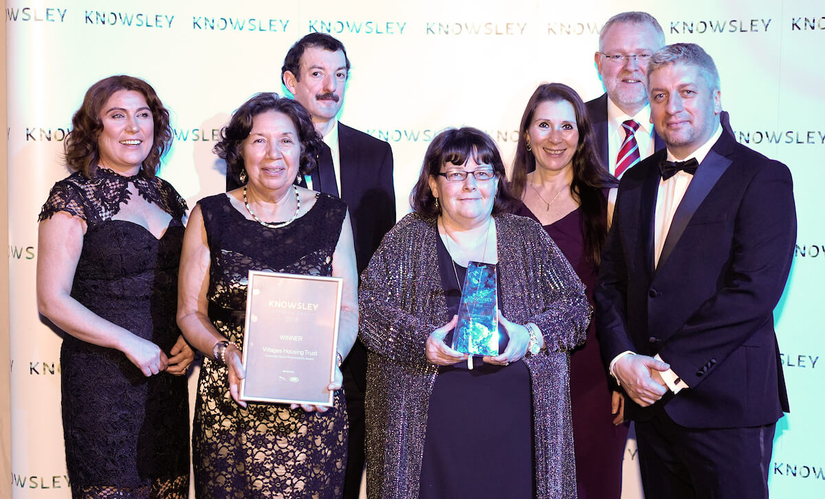 Villages Housing Trust team with their CSR Award