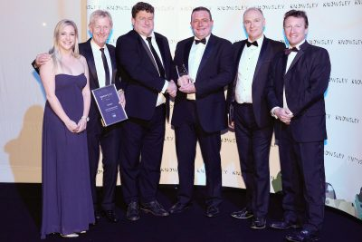 Orbit Developments team with their Commercial Development of the Year award