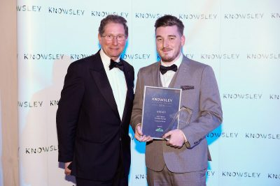 Josh Fearon from Noodles Nursery with his Employee of the Year award
